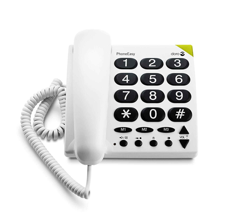 Doro phoneeasy 311c telefono fisso per anziani pulsanti grandi ufficio scrivania ebay - Telefono fisso design ...
